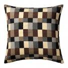 IKEA STOCKHOLM Pillow COVER Sham Cushion BEIGE Brown Gray Black CHECK Modern