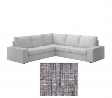 IKEA Kivik 2+2 Corner Sofa SLIPCOVERS 4 Seat sectional COVERS Isunda GRAY Grey