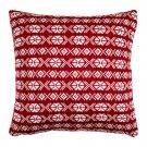 "IKEA Antilopoga CUSHION COVER Pillow Sham RED White 20"" x 20"" Knit ANTILOPÖGA Xmas Nordic"