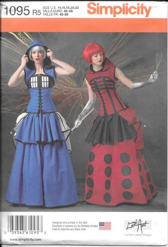 SIMPLICITY 1095 Misses Costumes Sewing Template Pattern, Size R5 (14-16-18-20-22)