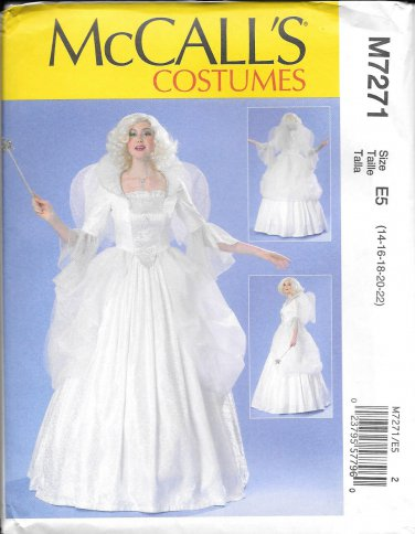 McCalls M7271 Fairy GodMother Fantasy Costume Size 14, 16, 18, 20, 22 Pattern