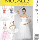 McCalls M7615 Ballet Dance Costume Size 6, 8, 10, 12,14 Pattern