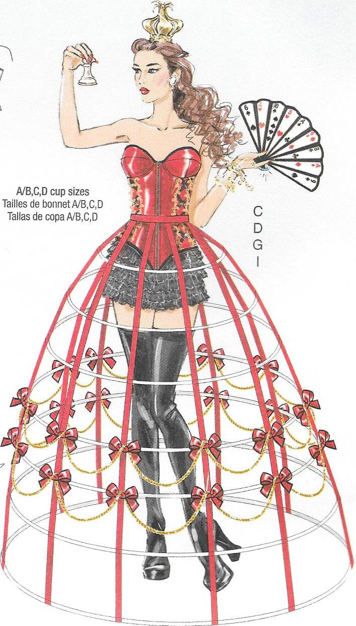 McCall's M7306 Corset Hoop Skirt Sizes 6, 8, 10, 12, 14 Costume Pattern