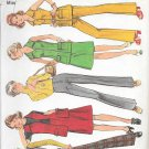 1970s Simplicity Sleeveless Shirt Flared Skirt Pants Size 10 Vintage Sewing Pattern 5141