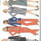 1970s McCalls Raglan Jacket Blouse Elastic Waist Full Skirt Flared Pants  Size 10 Pattern 3042