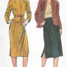Butterick Loose Fit Jacket Straight Skirt Size 12 Vintage Pattern 6823