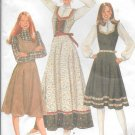 1980s McCalls Fitted Flared Jumper Dress Size 14 Vintage Sewing Pattern 7665