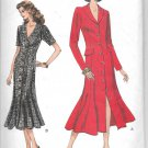 1990's Vogue Semi Fitted Flared Shirt Dress Size 18 20 22 Sewing Pattern 8877