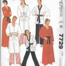 1980s McCalls Misses Mens Robe Pajamas Top Pants Size Ex Small Vintage Sewing Pattern 7729