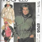 1980s McCalls Lined Jacket Belt Size 6 8 Vintage Sewing Pattern 8705