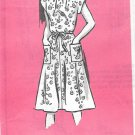 Anne Adams 4851 Pullover Simple Dress Size 6 8 10 12 Vintage Sewing Pattern