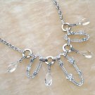 Necklace Pearl Crystal W/Earrings