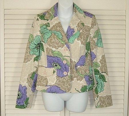 Ann Taylor Loft Floral Fitted Spring Jacket Blazer Size 6 www.blondieshouseofbargains.ecrater.com