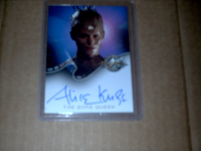 STAR TREK CINEMA 2000 AUTO A8 ALICE KRIGE +Ships Free!
