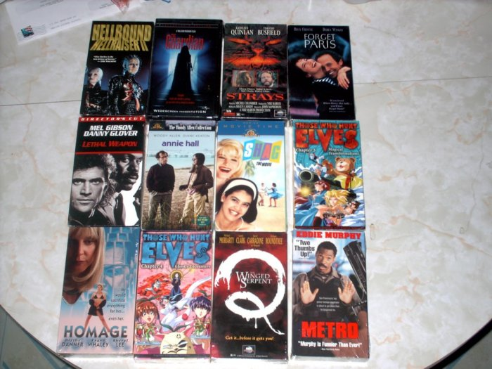 12 VHS LOT [A] HORROR ACTION + MORE - NEW +SHIPS FREE!