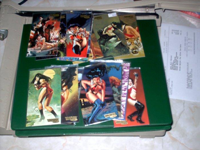 22 VAMPIRELLA GALLERY GOLD FOIL CARDS -- NICE!!!