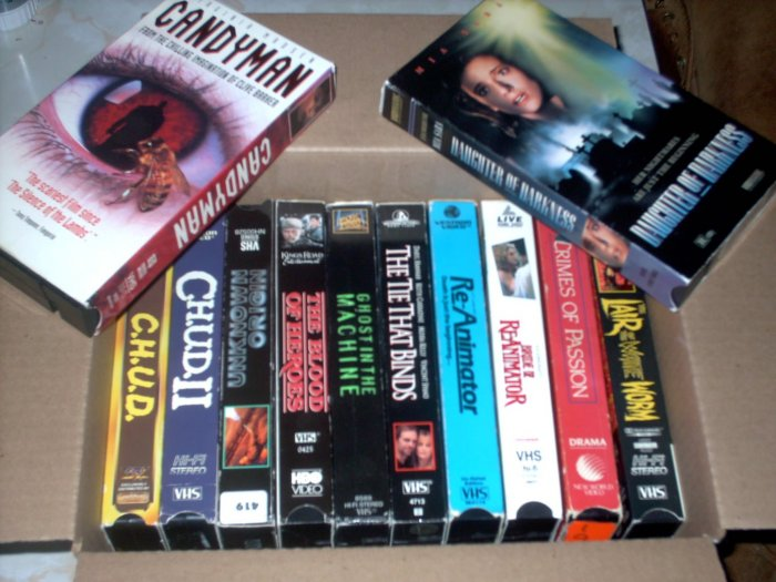 Used VHS Lot [2] 12 HORROR + DRAMA +SCI FI+ SHIPS FREE!