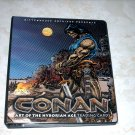 CONAN HYBORIAN AGE BINDER, BASIC SET, AND DARREN AUCK BINDER CARD