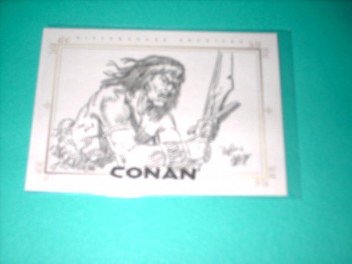CONAN HYBORIAN AGE SKETCHAFEX CARD BY DAN DAY