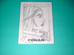 CONAN HYBORIAN AGE SKETCHAFEX CARD BY KRAIGER