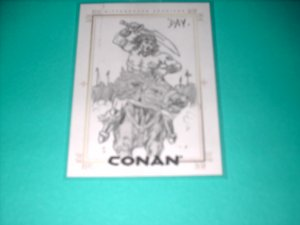 CONAN HYBORIAN AGE SKETCHAFEX CARD BY DAVID DAY