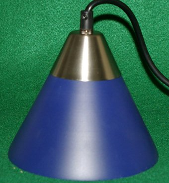 Blue coned shaped halogen lighting