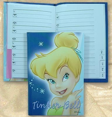 Tinker Bell Address Book - Blue