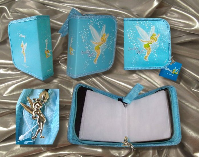 Tinker Bell CD/DVD Carry Case - Aqua