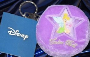 Tinker Bell Key Chain Coin Plush Purse