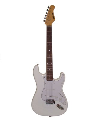Galveston ST-6 Electric Guitar With Whammy Bar White