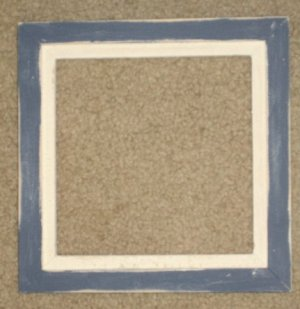 6X6 Faux Double picture frame  soldier blue & white