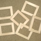 6 ACEO WOOD PICTURE FRAMES 2½X3½ UNFINISHED