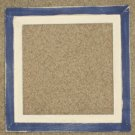 6X6 Faux Double picture frame dark royal blue & white