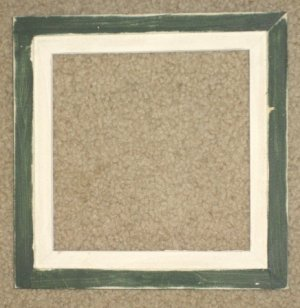 8X8 Faux Double picture frame forest green & white