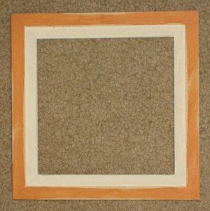 8X8 Faux Double picture frame orange & white