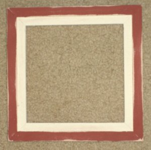 6X6 Faux Double picture frame barn red & white