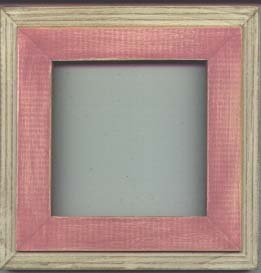 5X5 Montana style picture frame pink & white