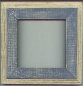 5X5 Montana style picture frame stoneware blue & white