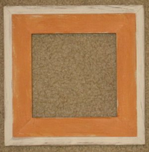 5X5 Montana style picture frame orange & white