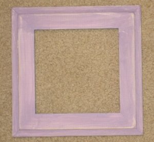 6x6 Montana style picture frame lavender over white