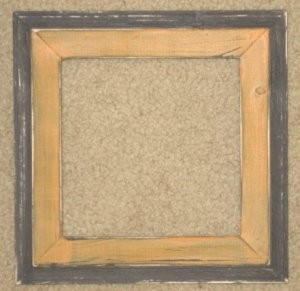 8X8 Faux Double picture frame orange & black