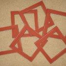 Lot of 6 primitive 6x6 frames in barn red - NEW