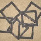 Lot of 6 primitive 6x6 frames in black - NEW