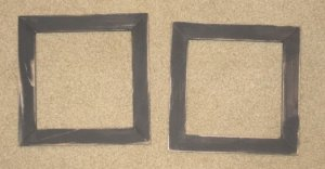 2 primitive 6x6 frames in black - NEW