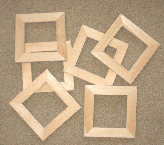 Unfinished Wood Picture Frame Craft Details Sarah Sechan