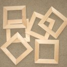 "6 UNFINISHED 4X4 WOOD PICTURE FRAMES 1"" wide moulding"