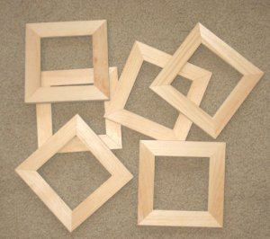 6 unfinished 4x4 wood picture frames 1 wide moulding for Unfinished wood frames for crafts