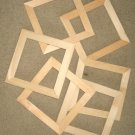 "6 UNFINISHED 6X6 WOOD PICTURE FRAMES 1"" wide moulding"