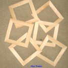 "6 UNFINISHED 5X5 WOOD PICTURE FRAMES 1"" wide moulding"