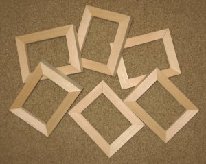ACEO PICTURE FRAMES (6) Unfinished in 2.5 x 3.5 size